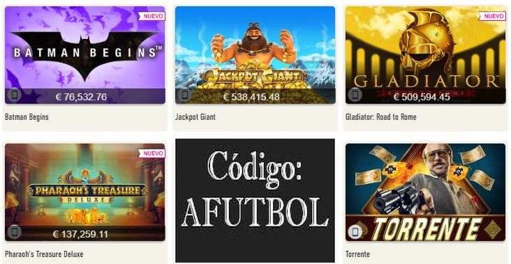 codigo promocional sportium casino